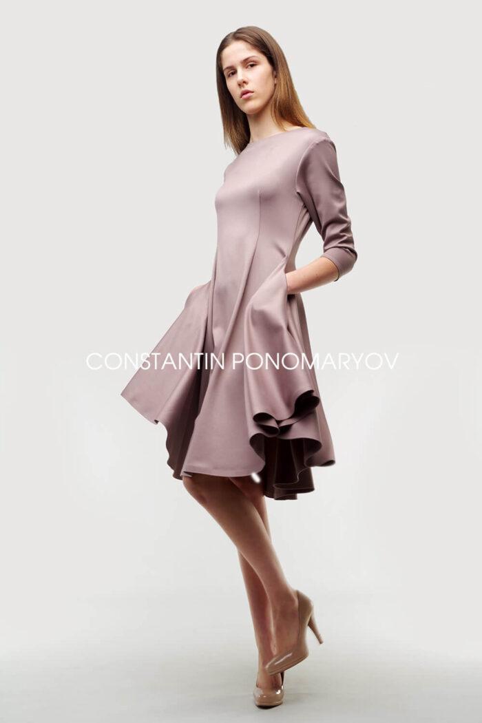 Платье Constantin Ponomaryov приталенного силуэта