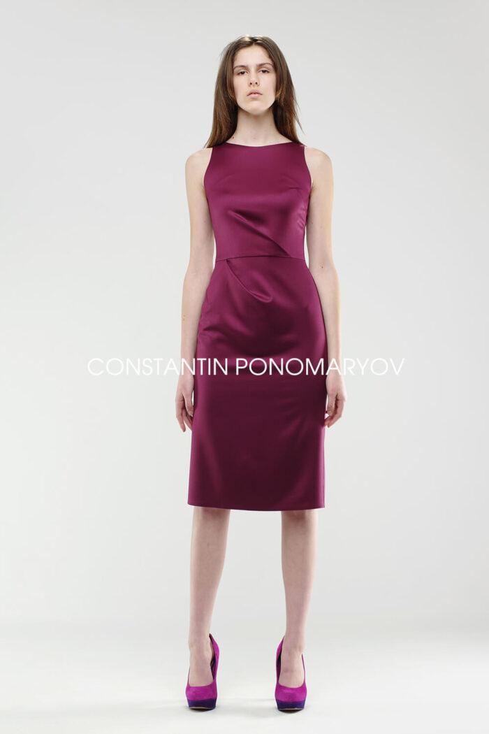 Платье шарм, заложенные склады и асимметричные выточки