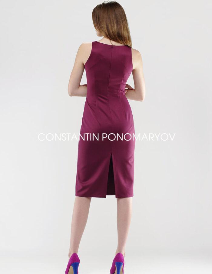 Платье шарм, вид сзади