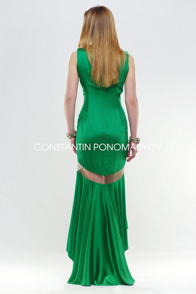 Вечернее платье, спинка